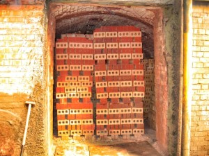 Northcot: fired bricks in a kiln chamber
