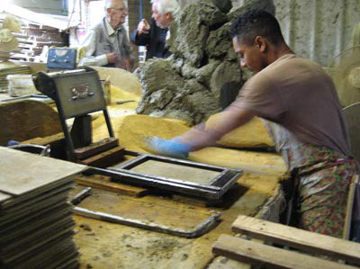 Tile production