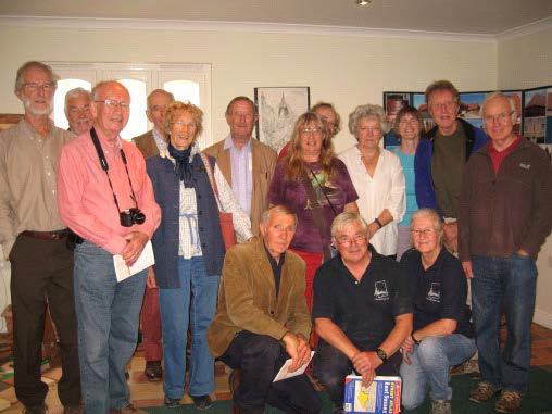 The visitors, with Tony and Lindy front row centre and right
